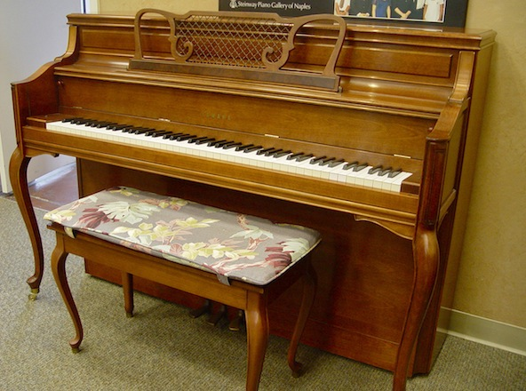 Used yamaha m2hr upright piano french provincial for Refurbished yamaha piano