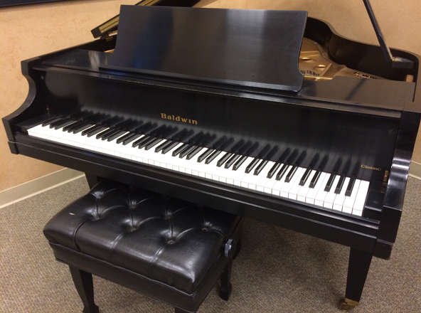 Used grand piano by baldwin used piano center for Yamaha baby grand piano used